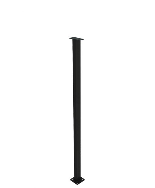 """PL-F39NWL4H: 38"""" Level Panel Spacer Newel for 39"""" Rail Height (Flush Mount - 39"""" Rail Height) - 4 Hole Base Plate"""