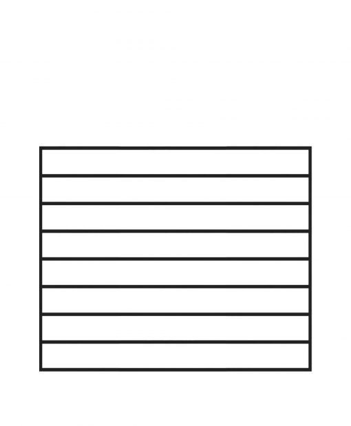 "PL-F4236: 42."" Level Panel for 36"" Level Rail Height (Flush Mount - 36"" Level Rail Height)"