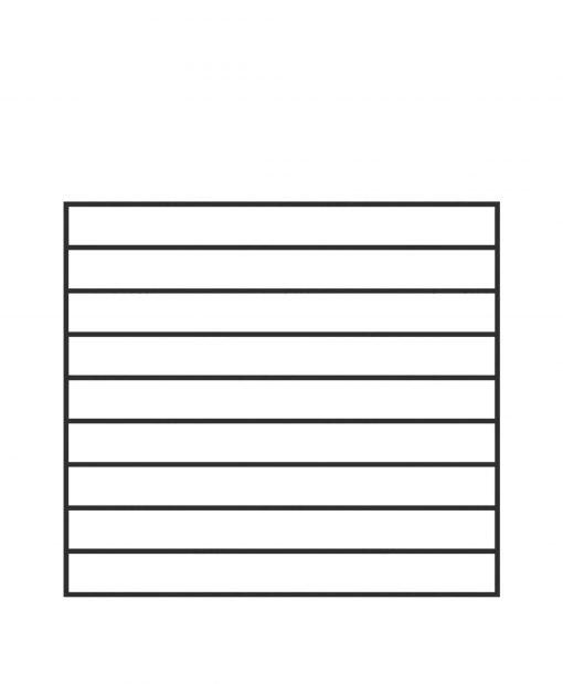 "PL-F4239: 42."" Level Panel for 39"" Level Rail Height (Flush Mount - 39"" Level Rail Height)"