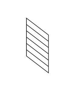"PR-K1836: 18"" Kneewall Stair Panel for 36"" Rake Rail Height (Kneewall - 36"" Rake Rail Height)"