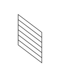 "PR-K2436: 24"" Kneewall Stair Panel for 36"" Rake Rail Height (Kneewall - 36"" Rake Rail Height)"