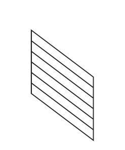 "PR-K3036: 30"" Kneewall Stair Panel for 36"" Rake Rail Height (Kneewall - 36"" Rake Rail Height)"