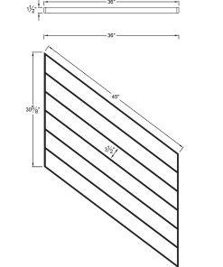 "PR-K3636: 36"" Kneewall Stair Panel for 36"" Rake Rail Height (Kneewall - 36"" Rake Rail Height) Dimensions"