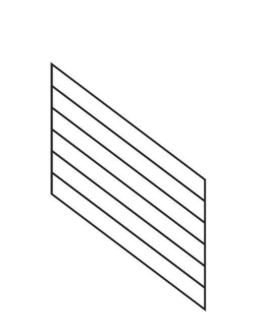 "PR-K3636: 36"" Kneewall Stair Panel for 36"" Rake Rail Height (Kneewall - 36"" Rake Rail Height)"
