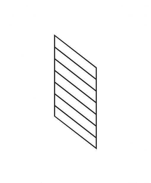 "PR-O1836: 18"" Open Tread Stair Panel for 36"" Rake Rail Height (Rake Angle - 36"" Rake Rail Height)"