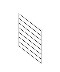 "PR-O2436: 24"" Open Tread Stair Panel for 36"" Rake Rail Height (Rake Angle - 36"" Rake Rail Height)"