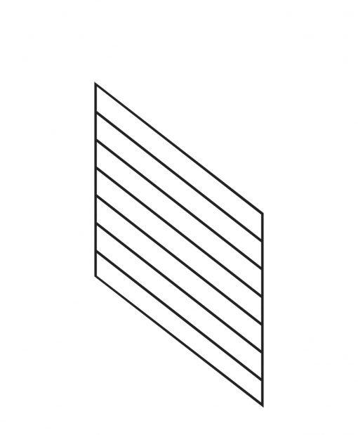 "PR-O3036: 30"" Open Tread Stair Panel for 36"" Rake Rail Height (Rake Angle - 36"" Rake Rail Height)"