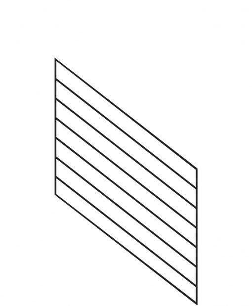 "PR-O3636: 36"" Open Tread Stair Panel for 36"" Rake Rail Height (Rake Angle - 36"" Rake Rail Height)"