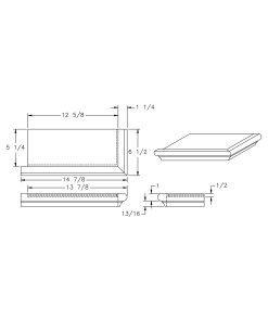 S-8071LH: Left Hand False Tread Drawing