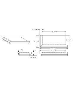 S-8071RH: Right Hand False Tread Drawing