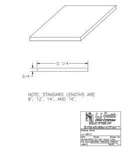 LJ-8912: Stairway Skirtboard CAD Drawing
