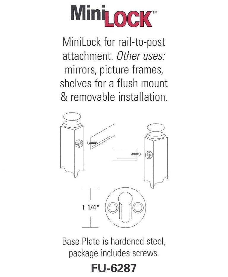 FU-6287: MiniLock Handrail to Post Fastener (2 Per Pack)